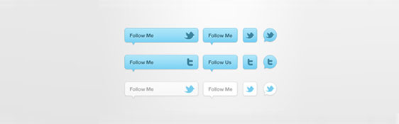 twitter follow buttons icons